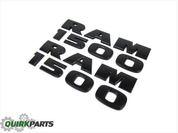 13 15 dodge ram 1500 black ram 1500 emblem nameplate badge. Black Bedroom Furniture Sets. Home Design Ideas