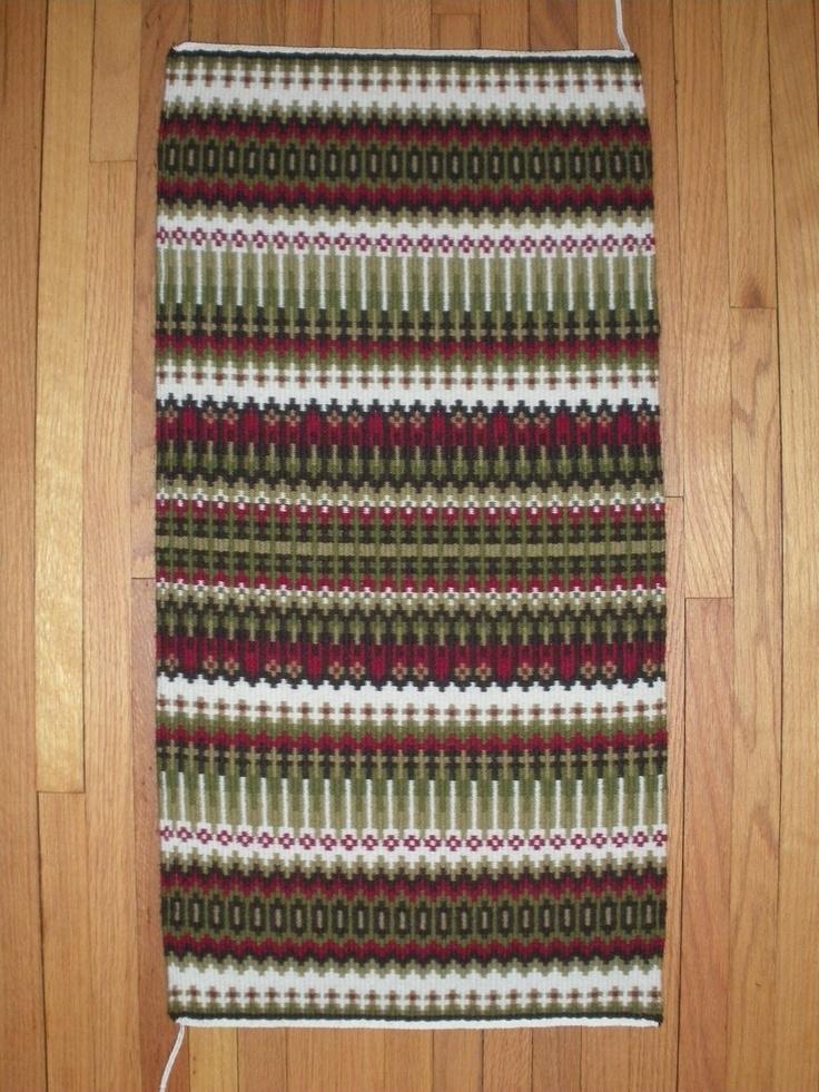 Krokbragd rug by Robyn