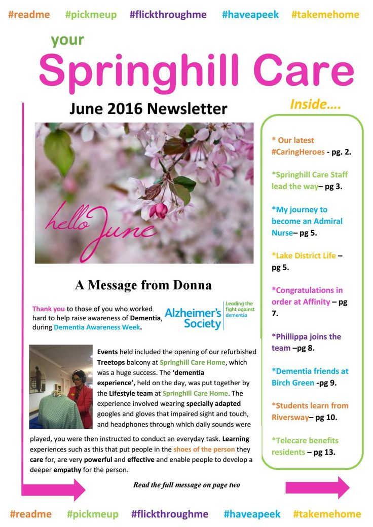 Springhill Care Group Newsletter June 2016 by Springhill Care Group - issuu