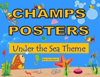 CHAMPS Posters  18 Posters Included. Print only the posters that fit your classroom management program.  Improve classroom behavior and increase academic engagement using the CHAMPS Classroom Management strategies.  This set includes a CHAMPS poster for:  Voice Levels, Warm Up, Bellwork, Morning Work, Teacher Instruction, Small Group, Whole Group, Independent Work, Test or Quiz, Hallway, Lining Up, Media Center, Computer, Restroom, Centers, Writing Workshop, Snack Time, and Clean Up.