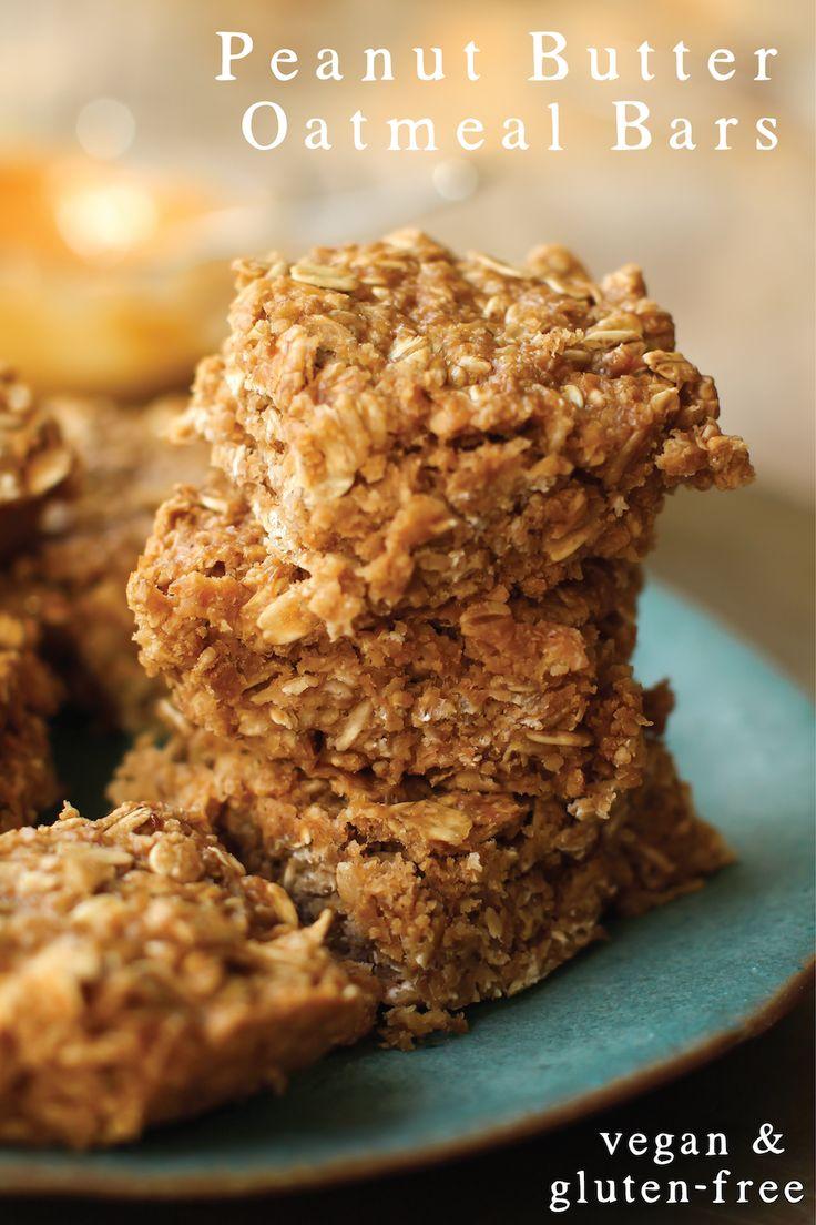 Peanut Butter Oatmeal Bars #vegan #glutenfree #breakfast #pb #healthy ...