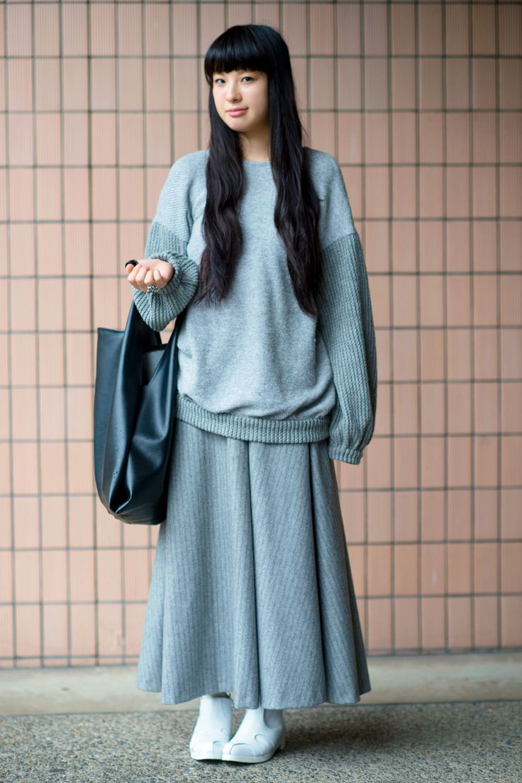 30 Inspired Looks From Tokyo Fashion Week #refinery29 http://www.refinery29.com/2014/10/76579/tokyo-street-style-pictures-2014#slide11 So comfy, so chic.