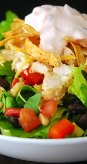 Chicken Fajita Southwest Salad~The Gunny Sack