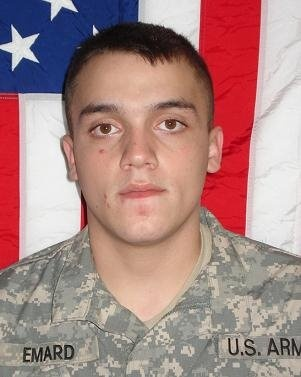 Army Spc. Jonathan A. Emard  Died June 4, 2008 Serving During Operation Iraqi Freedom  20, of Mesquite, Texas; assigned to the 1st Battalion, 87th Infantry Regiment, 1st Brigade Combat Team, 10th Mountain Division (Light Infantry), Fort Drum, N.Y.; died June 4 in Tikrit, Iraq, of wounds sustained in Sharqat, Iraq, when his unit was attacked by enemy forces using small-arms fire and hand grenades.