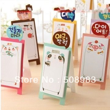 New Cute Cartoon Animals Family Style Notepad Memo Sticky Note Pad Notebook