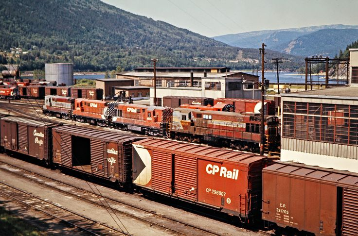 CP, Nelson, British Columbia, 1973 Canadian Pacific Railway engine terminal at Nelson, British Columbia, on July 15, 1973. Photograph by John F. Bjorklund, © 2015, Center for Railroad Photography and Art. Bjorklund-36-21-19