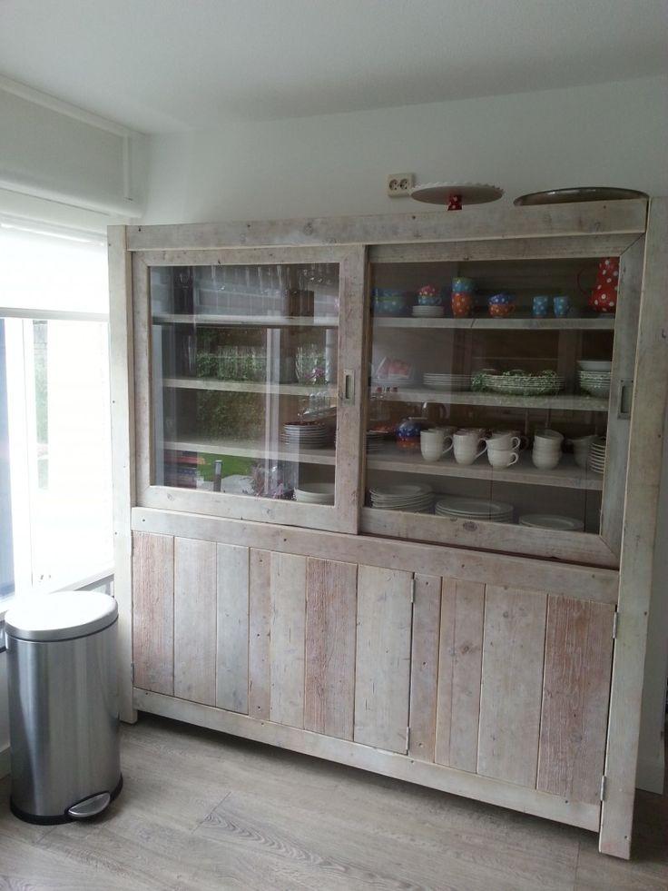 Wandkast Schijndel van steigerhout