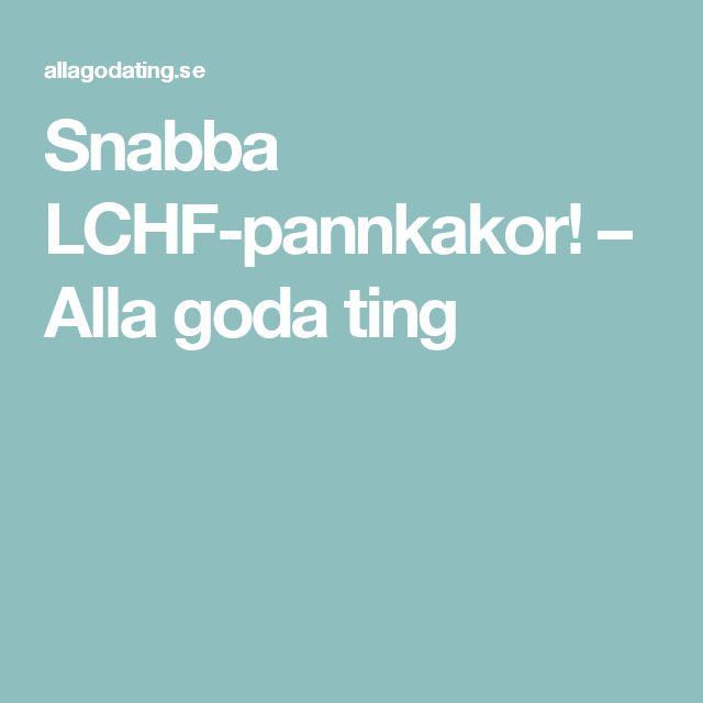 Snabba LCHF-pannkakor! – Alla goda ting