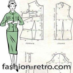 Нарядный костюм из шерстяной ткани 60-х