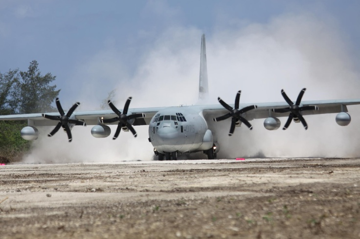 KC-130 Super Hercules. This is what my Marine worked on when he was in the Corp.