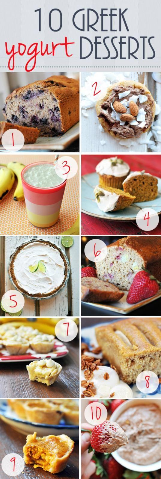 10 Greek Yogurt Dessert Recipes // @Dawn Cameron-Hollyer G and Nourish