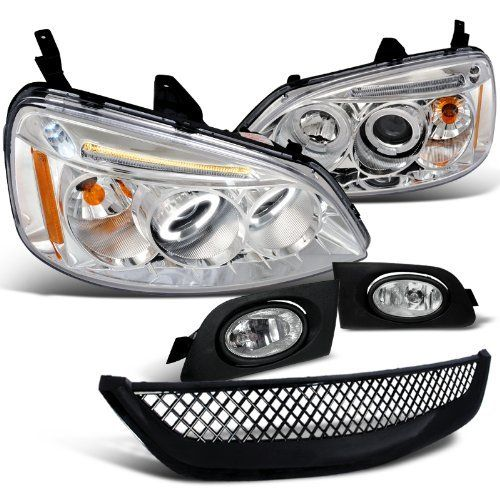 Hodna Civic 2 4 Dr Chrome Halo Led Proj Headlights, Fog Lights, Grill by Spec-D Tuning. $183.95. Brand new in original packaging. Exactly the same as shown in the picture! Do not come with installation instructions. Professional installation highly recommended. Projector Headlights Come with both headlights. High quality chrome housing projector headlights w/ dual halo rings and LED lights. These lights are made by an OE approved and ISO certified manufacturer ...