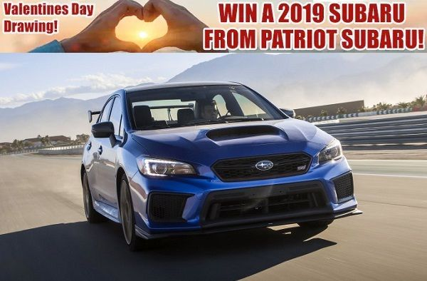 www patriotsubaru com/win-a-2019-Subaru htm: Enter to win