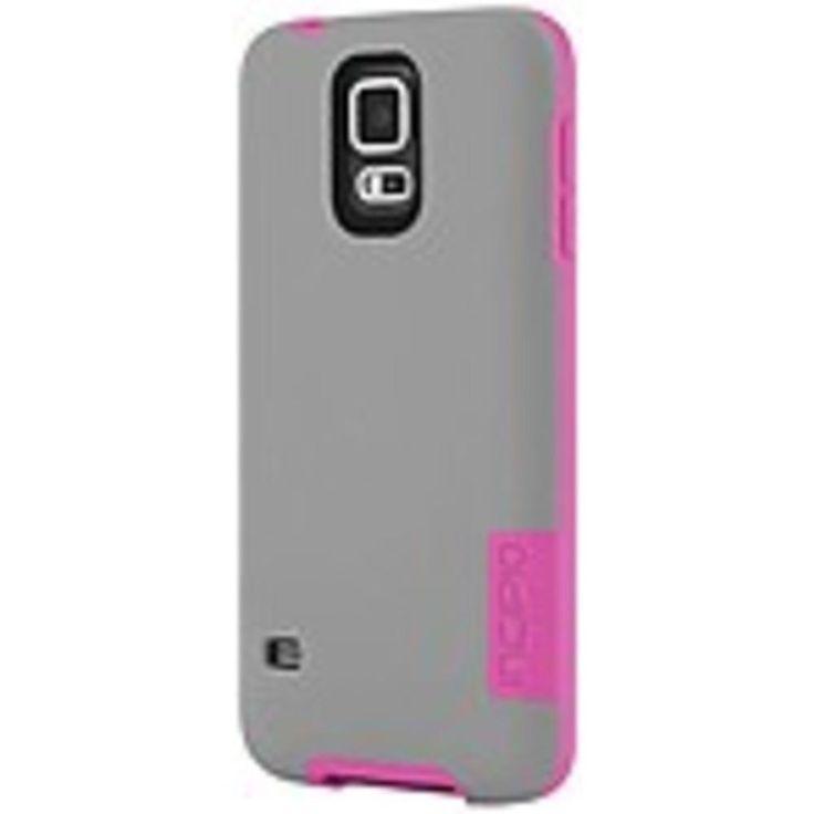 Incipio OVRMLD Case for Samsung Galaxy S5 - Gray/Pink - SA-531-GRY - Flexible Hard-Shell - Plextonium, Next Generation Polymer