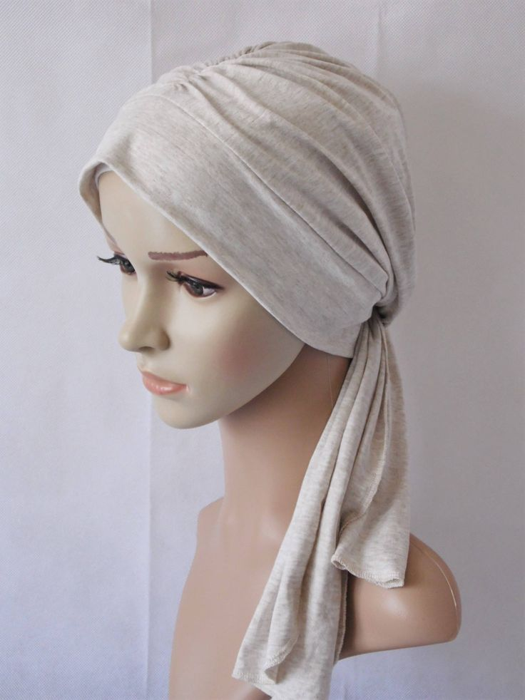Turban snood, chemo head wear, hat with ties, viscose jersey cap, bad hair day scarf, women's headscarf, chemo hat by accessoriesbyrita on Etsy