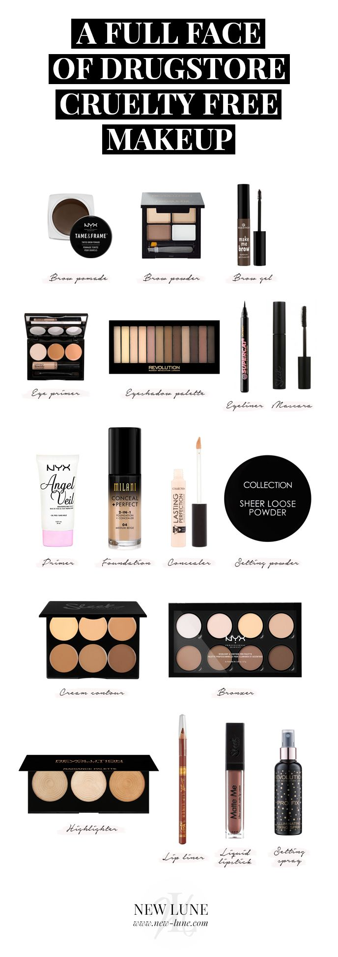 A Full Face Of Drugstore Cruelty Free Makeup Cruelty