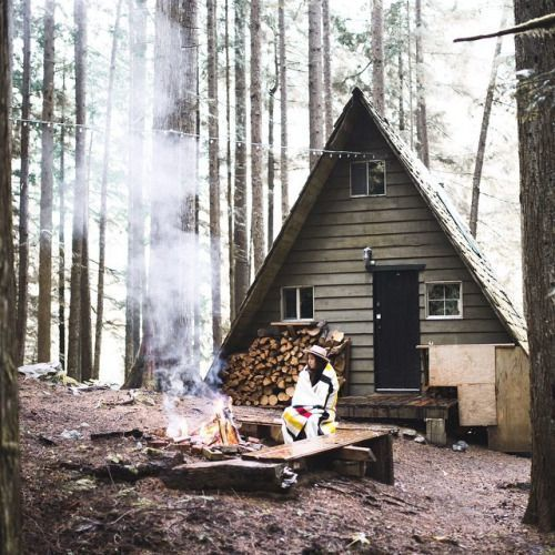 12 Best Cabins Images On Pinterest Wood Cabins A Frame