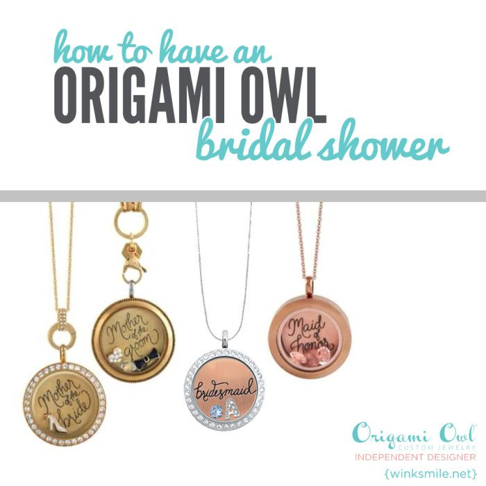how to have an Origami Owl bridal shower - get personalized lockets for all your bridesmaids and shower the bride with {love}!
