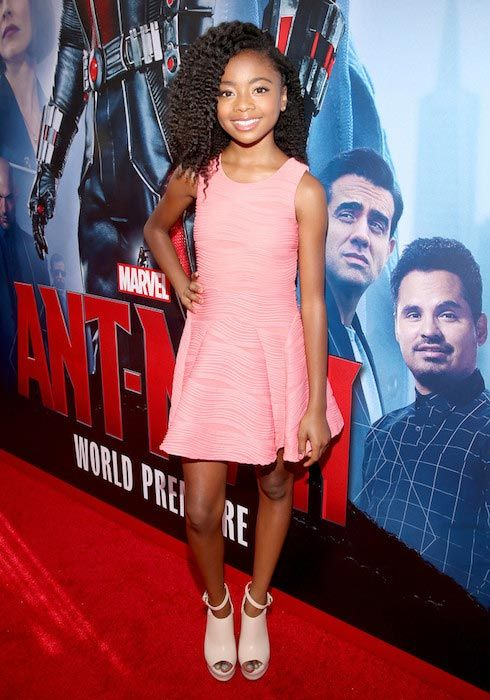 Skai Jackson at the world premiere of Marvel's Ant-Man in June 2015...
