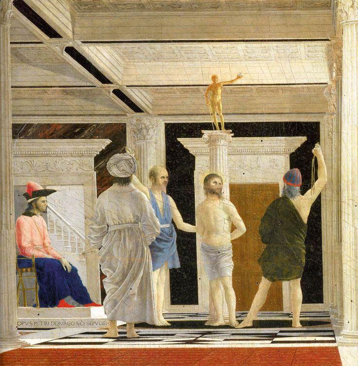Detail of The Flagellation de Piero de la Francesca