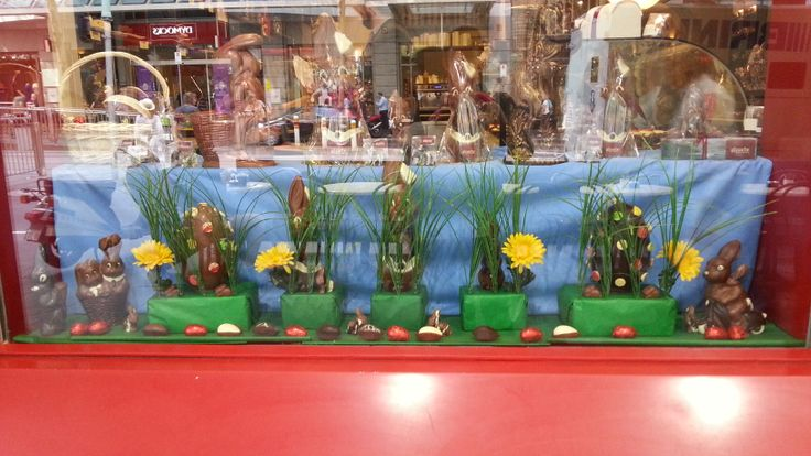 Our chocolate lounges are beautifully decorated ready for the Easter bunny to visit.