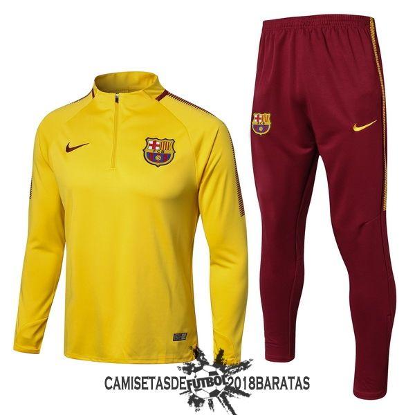 aba2107e5829e Conjunto Camiseta Barcelona Chandal Niños 2017 2018 Amarillo Rojo ...