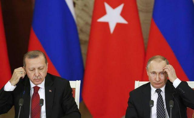 """Turki ingin rangkul Rusia di Suriah  Presiden Turki Recep Tayyip Erdogan bersama Pemimpin Rusia Vladimir Putin (Reuters/Arab News)  Presiden Tayyip Erdogan berusaha membangun kerja sama militer di Suriah dengan pemimpin Rusia Vladimir Putin Jum'at (10/3). """"Tentu saja target nyata sekarang adalah Raqqah"""" ujar Erdogan pada konferensi pers di Moskow bersama dengan Putin. Raqqa merupakan ibukota de facto kelompok militan ISIS sekaligus basis kuat terakhir. Turki ingin ikut berperan secara…"""