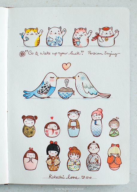 Sketchbook by {JooJoo}, via Flickr