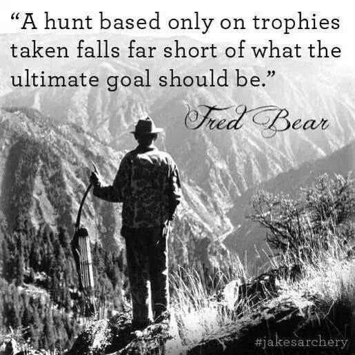 A hunt based only on trophies taken falls far short of what the ultimate goal should be. Well said... LEM Products   The Leader In Game Processing