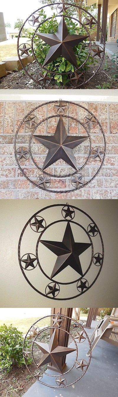 Wall Sculptures 166729: 44 Multi Stars Lone Star Barn Metal Western Home Decor Wall Art Rustic Bronze -> BUY IT NOW ONLY: $89.95 on eBay!