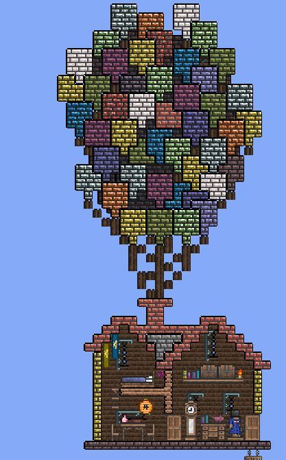 Terraria the house from the movie up terraria for Best house designs terraria