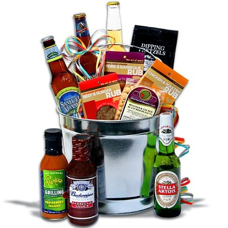 13 best beer gift baskets images on pinterest beer gift baskets beer b q bucket beer gift basketsbeer negle Gallery