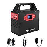 ACOPOWER 150Wh Portable Solar Generator Power Supply Energy Storage Lithium ion Battery Charged by Solar/AC Outlet/Cars with Dual AC Outlet 3 DC Ports 2 USB Ports