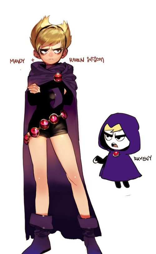 the grim adventures of billy and mandy Mandy and Raven teen titans