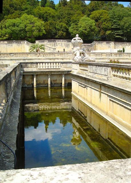 Jardin des Fontaines, Nîmes, Languedoc-Roussillon