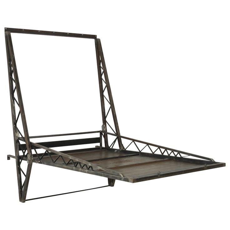 Exceptional Industrial steel twinbed by Wolfgang Laubersheimer