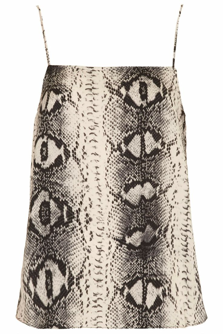 Straight Neck Snake Print Cami - Sale - Sale & Offers - Topshop