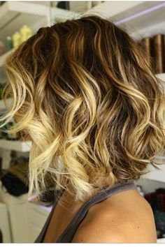 Ombré on short hair... want to do something like this but with chocolate and caramel colors since my hair is black
