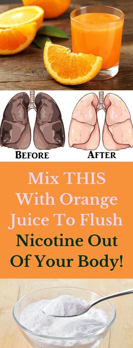 Mix THIS With Orange Juice To Flush Nicotine Out Of Your Body! – Samantha Ross