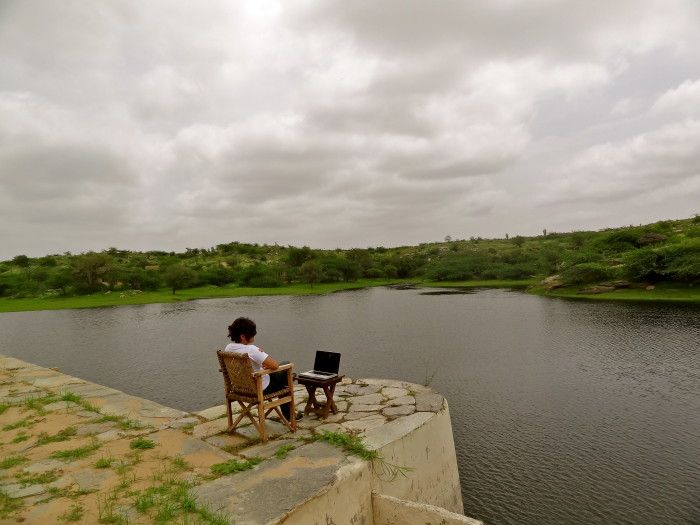 Inspired to write in Pali, Rajasthan