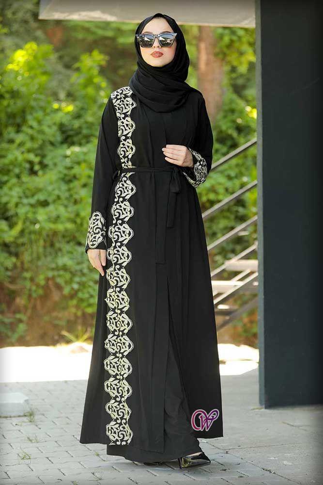احدث موديلات عبايات تركية سوداء شيك للبنات 2021 Hijab Dress Turkish Dress Hijab Fashion