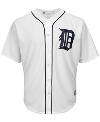 Majestic Men's Miguel Cabrera Detroit Tigers Player Replica Cb Jersey - White XXL