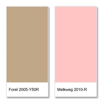 Romantisch interieur: kleuren zand en licht roze