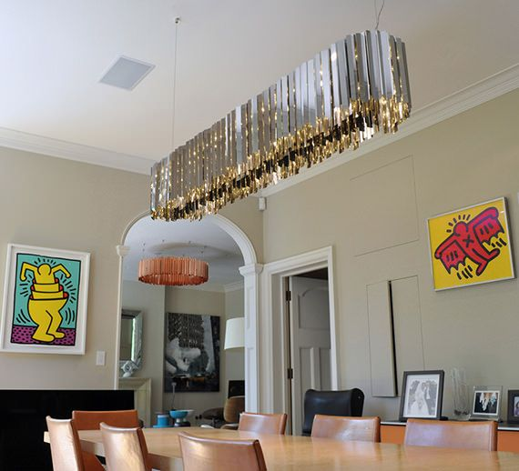 Linear Facet Chandelier | Contemporary Lighting Project