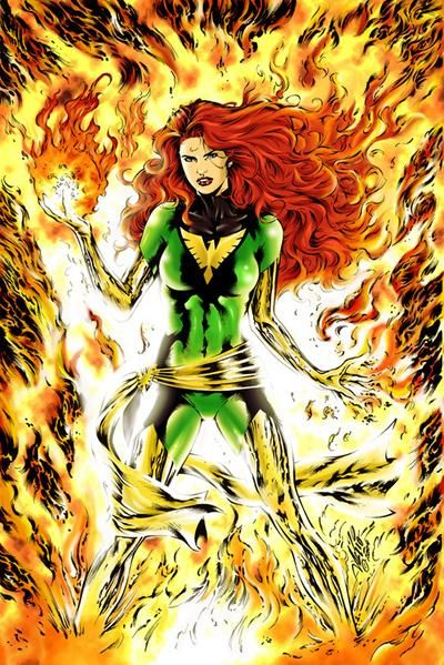 Jean Grey in her cool costume (with cool belt) @Erica Angeloff
