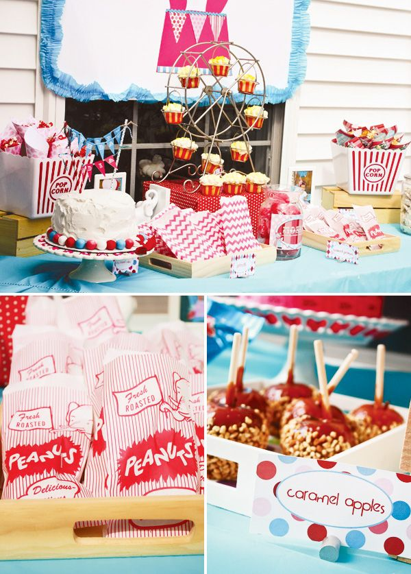 Circus dessert table. Tiffany of Taste{Full}. Via @Hostess with the Mostess