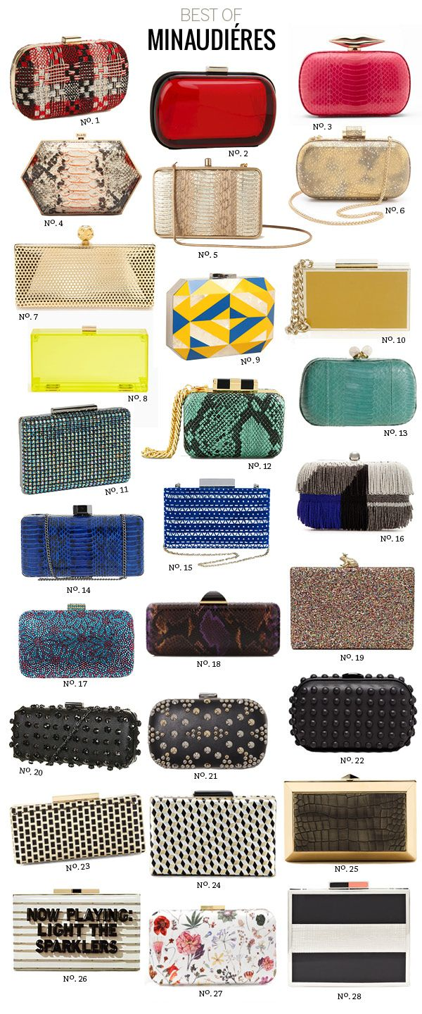 #Express clutch as featured on Modern Eve.  GET IT HERE: http://www.express.com/clothing/studded+pattern+hard+case+clutch/pro/9802282/cat320081?CID=4016: