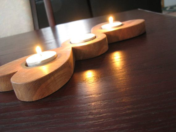 Solid Maple Hardwood Candle Holder Handmade by GWCWoodcrafts