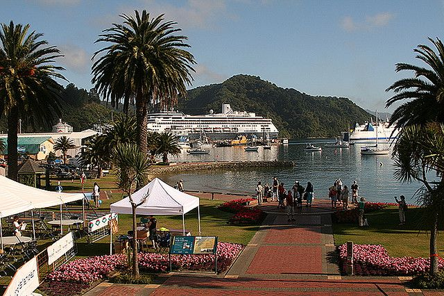 Docking in Picton,New Zealand