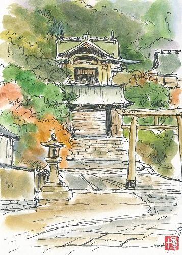 ティーティ=ウーの絵の具箱 ~小さな水彩画たち~:鞆の浦(広島)
